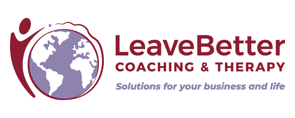 Logo of leavebetter, business made simple certified coaching